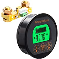 SODIAL Battery Capacity Tester Coulometer Dc8-80V 100A Tr16 Battery Tester for Pb Li-Lon Lifepo Nimh Nicd Pe Kinds of…