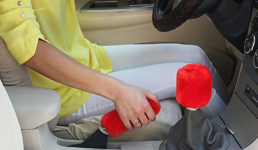 Kamel Lanxi 2-teilig Decke mit Pl/üsch Dekoration Auto-Innen f/ür Auto Handbremse und Schaltknauf Dekoration Auto-Innen