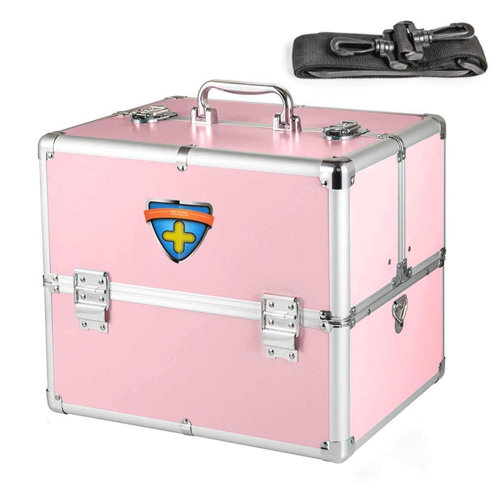 SLH 家庭用医薬品の箱の多層家族は、箱の医学のストレージボックスから救済 (Color : Pink)  Pink B07KFGCTG1