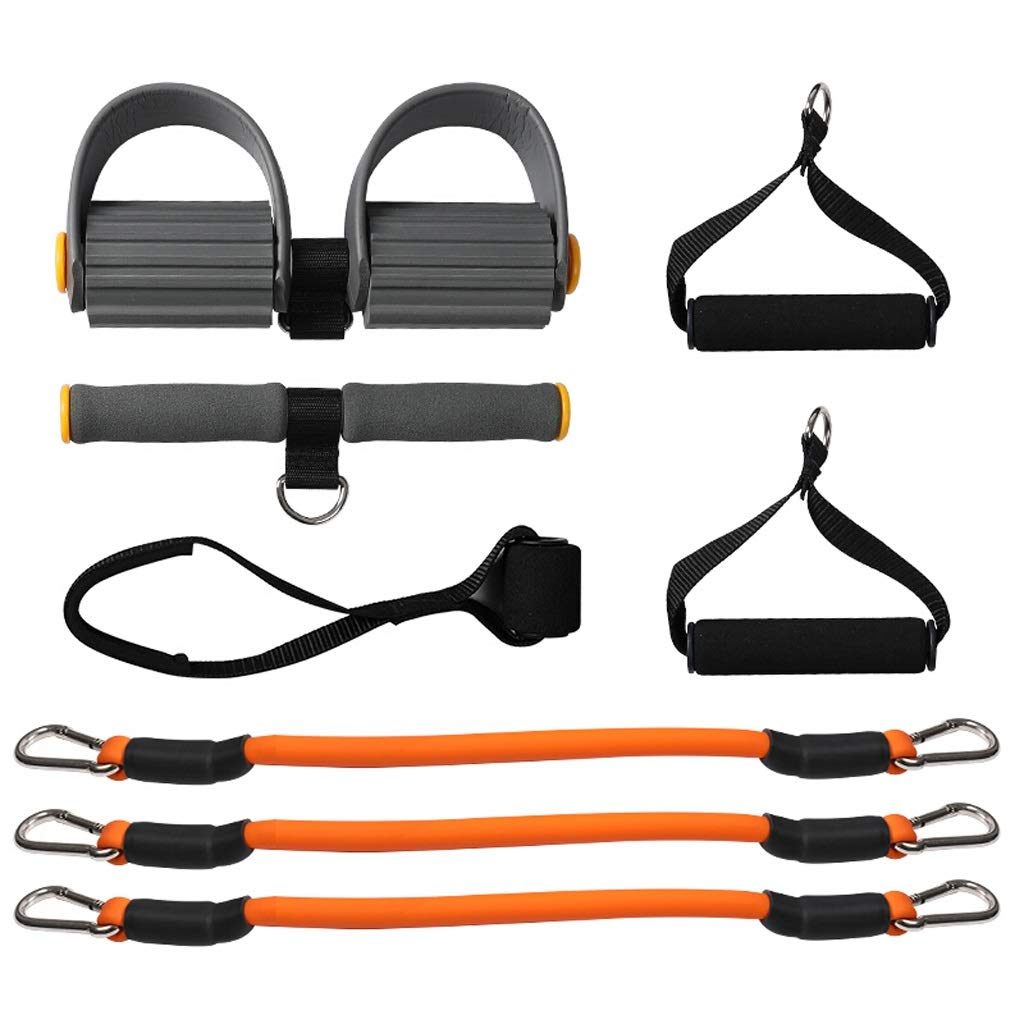 Queen Boutiques Keep fit Body Weight Fitness Training Kit Fitness Resistance Band Pedal Exerciser Rope Sit-up Pull Rope Workout Bands for Yoga Pilates Expander Elastic Fitness by Queen Boutiques