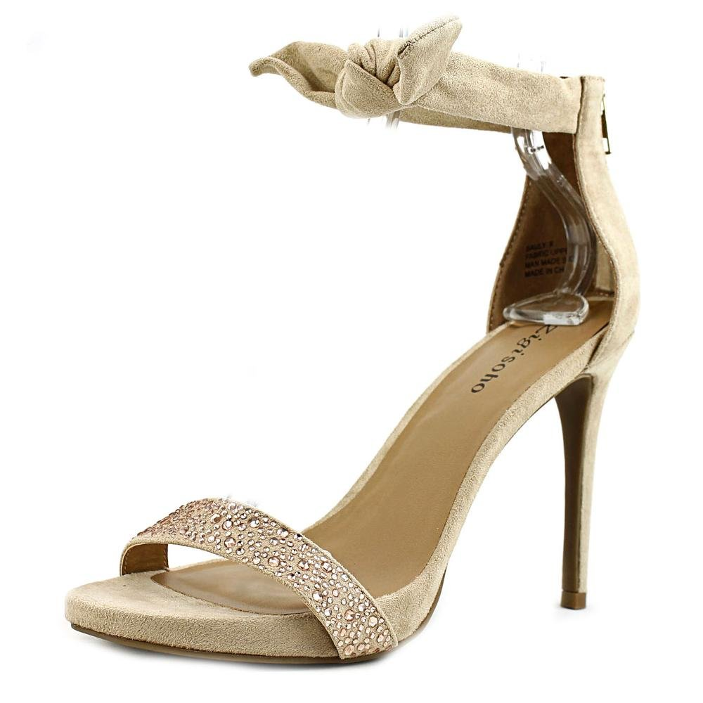ZIGI SOHO Womens SAULY Fabric Open Toe Special Occasion Ankle Strap Sandals B06XQMYNKF 8 B(M) US|Cinnamon