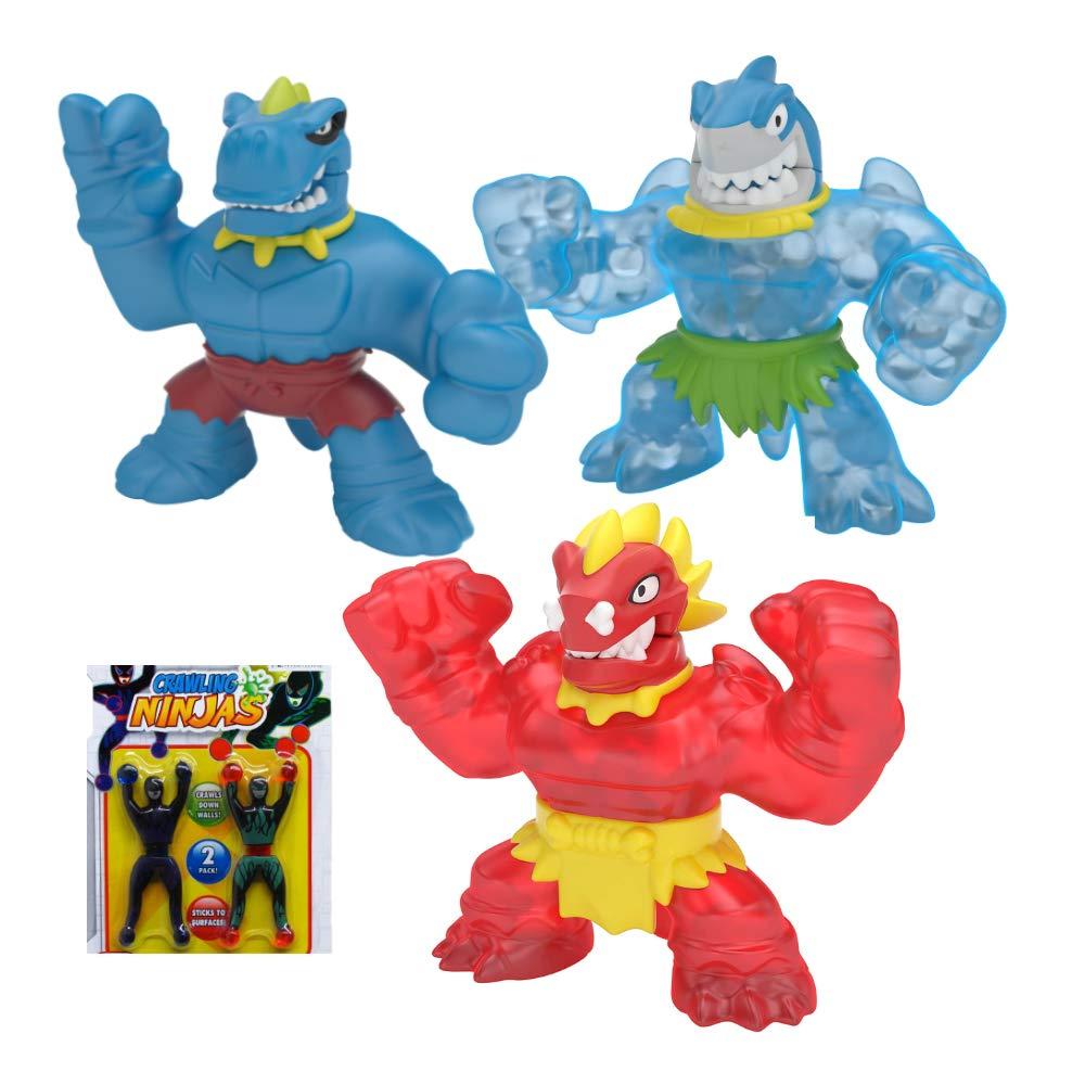 Heroes of Goo Jit Zu Dino Power Action Figures with New Chomp Attack! - Tyro, Blazagon,Thrash (3-Pack)