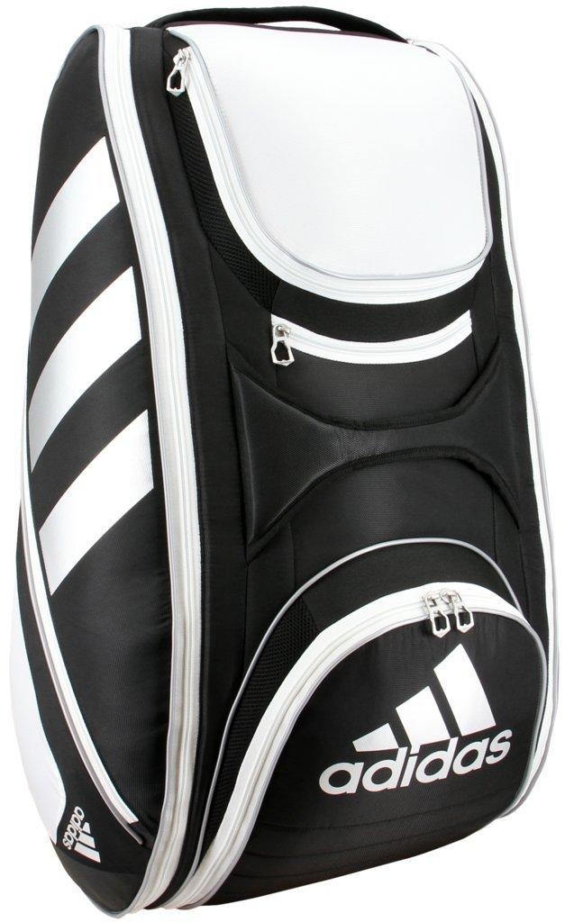 adidas Tour Tennis 12 Racquet Bag, Black/White/Silver, One Size