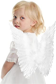 Fairy Dress Photography Kids Children Angel Feather Wings Halloween Costume