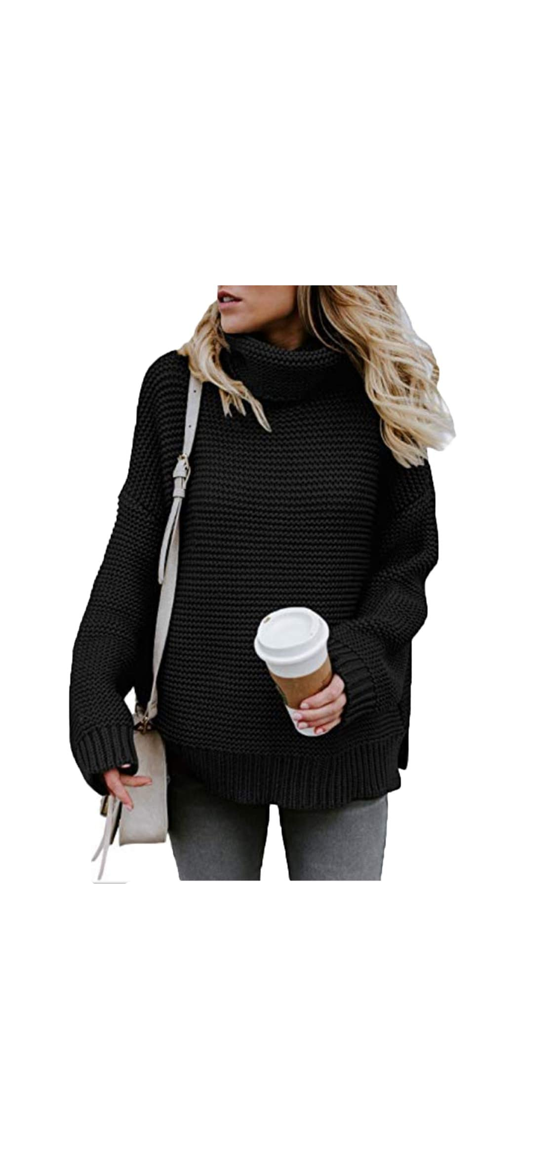 S-xl Women Turtleneck Long Sleeve Chunky Knit Casual