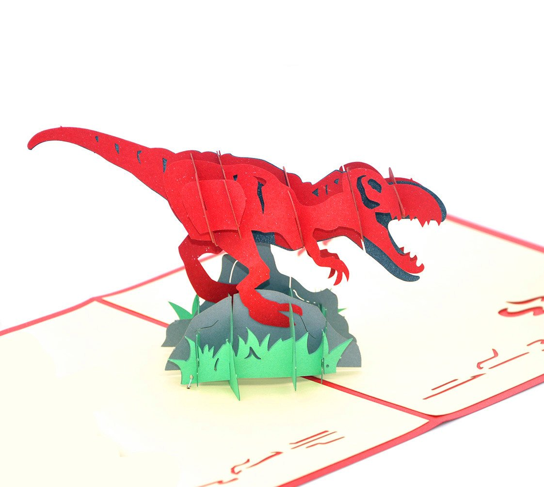 Medigy 3D Pop Up Greeting Cards Blank Cards for Most Occastions Dinosaur