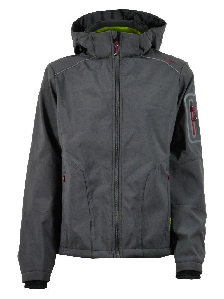CMP - Softshell Zip Hood, color talla Negro olive, talla color XXXL 27ad90