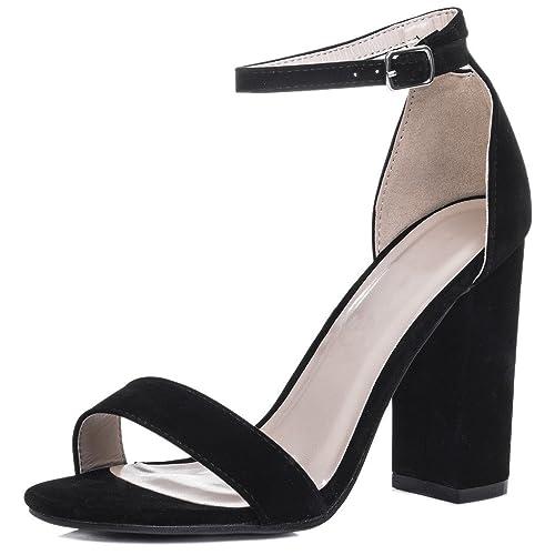 bd34256d64f71 Spylovebuy SASS Women's Open Peep Toe Block Heel Sandals Pumps Shoes