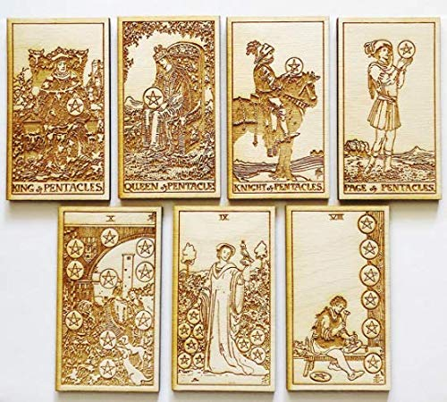LumEngrave Wood Engraved Tarot Card Deck Rider Waite Collectible 78 Wooden Card Set Major & Minor Arcana Tarot Cards Occult Gift Astrology Gift (Major Arcana (22)) by LumEngrave (Image #5)