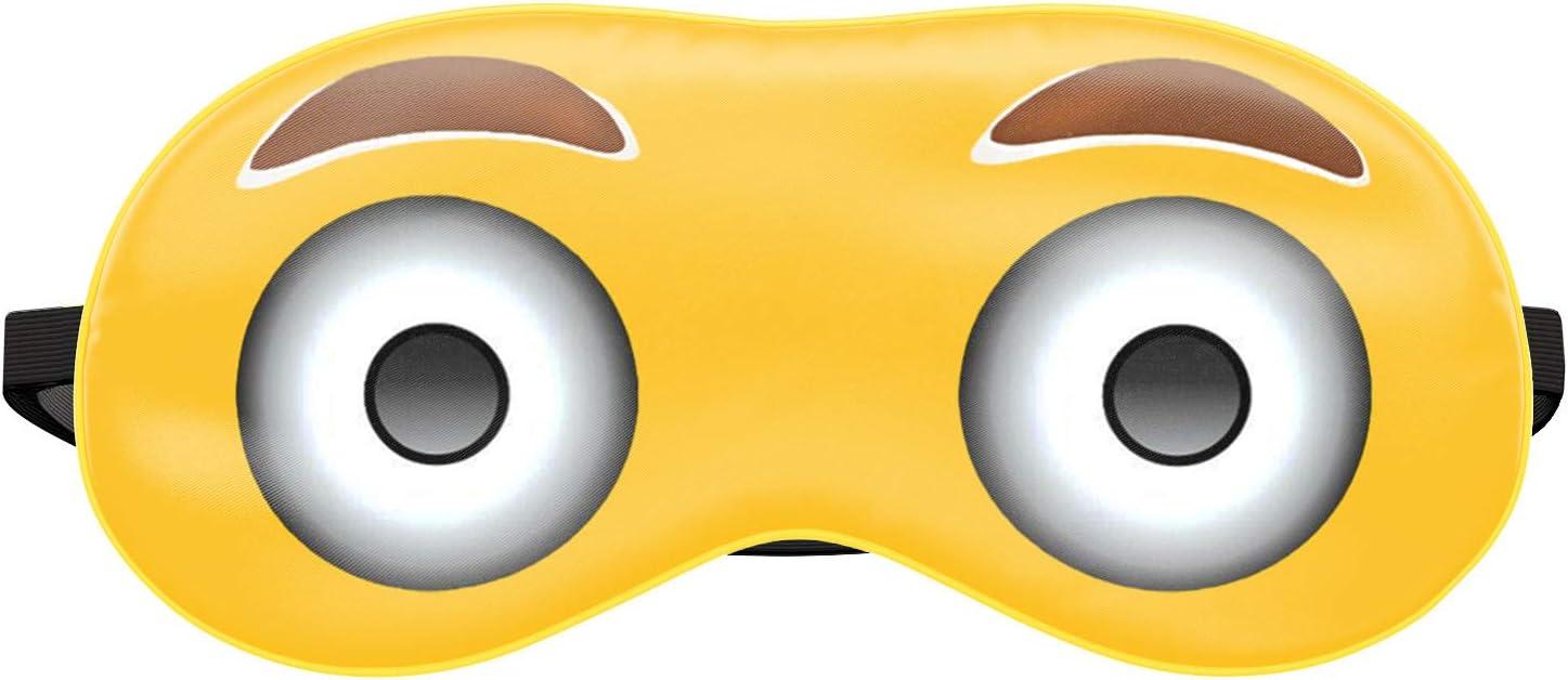 042 Masque de Sommeil de Voyage Relax Lit Yeux Couverture Emoji Siestes Ananas 2