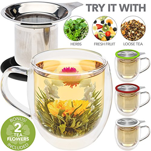 Teabloom Double Infuser Gourmet Flowers product image