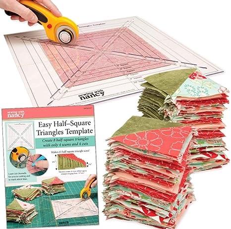 Plantilla de triángulos fácil de media plaza para coser con Nancy ...
