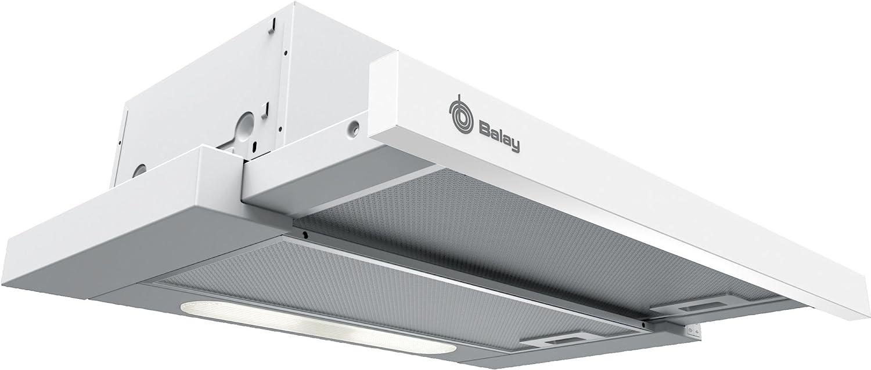 Balay 3BT262MB - Campana (300 m³/h, Canalizado/Recirculación, E, D, D, 62 dB)