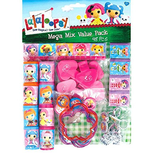 Adorable Lalaloopsy Mega Mix Value Pack Birthday Party Favours (48 Pack), Multi Color, 11.3