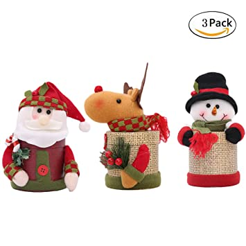 Amazon.com: RAINIE encanta Navidad decorations-lovely Santa ...