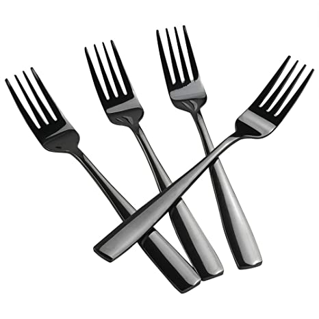 Amazon.com: Teyyvn Juego de 16 tenedores de acero inoxidable ...