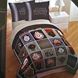 Star Wars Full or Queen Grey Blanket Set: Quilt and Two Shams