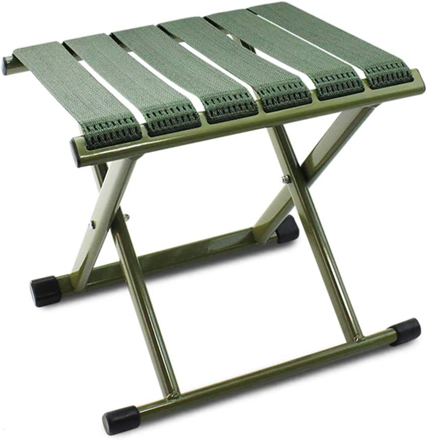 B07KS58451 Folding Stool Folding Step Mazza Portable Stool Mazar Shoe Stool Footstool Step Stool Adjustable Foot Rest Collapsible Outdoor Leisure Fishing Tourism Train GAOFENG (Color : Green, Size : L) 61bM5AWdGzL