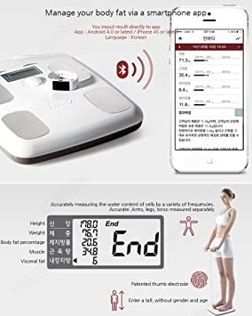 Amazon.com: Inbody Dial H20b Body Fat Composition Analyzer Digital Bluetooth Scale: Health & Personal Care