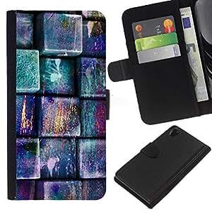 [Neutron-Star] Modelo colorido cuero de la carpeta del tirón del caso cubierta piel Holster Funda protecció Para Sony Xperia Z2 D6502 [Modelo en colores pastel del trullo Rosa]
