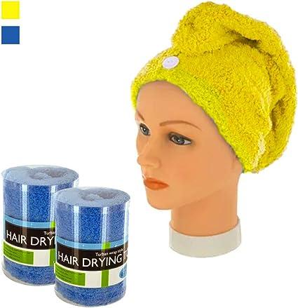 2 Pc Microfiber Hair Wrap Towel Drying Bath Spa Head Cap Turban Twist Dry Shower