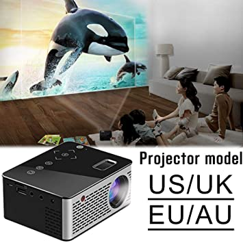 iBaste-ES proyector HD Video T200 Mini proyector portátil Hogar y ...