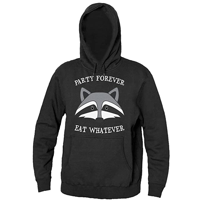 Party Forever Eat Whatever Badger The Party Animal Mens Hooded Sweatshirt Sudadera con capucha para hombre