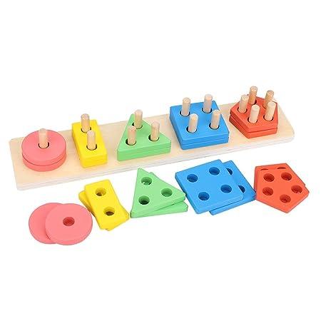 FTVOGUE Juguetes educativos de Madera en Forma de fracción para Aprender puzle Juguetes: Amazon.es: Hogar