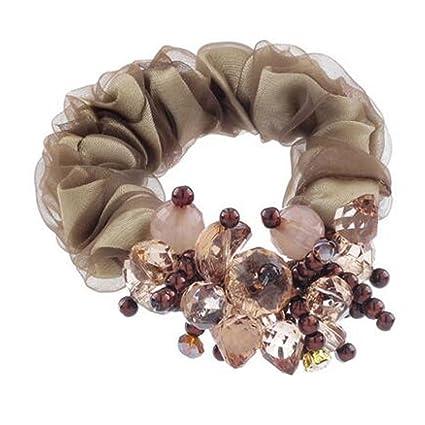 mujeres precioso pelo elástico pelo Corbatas accesorios cola de ...