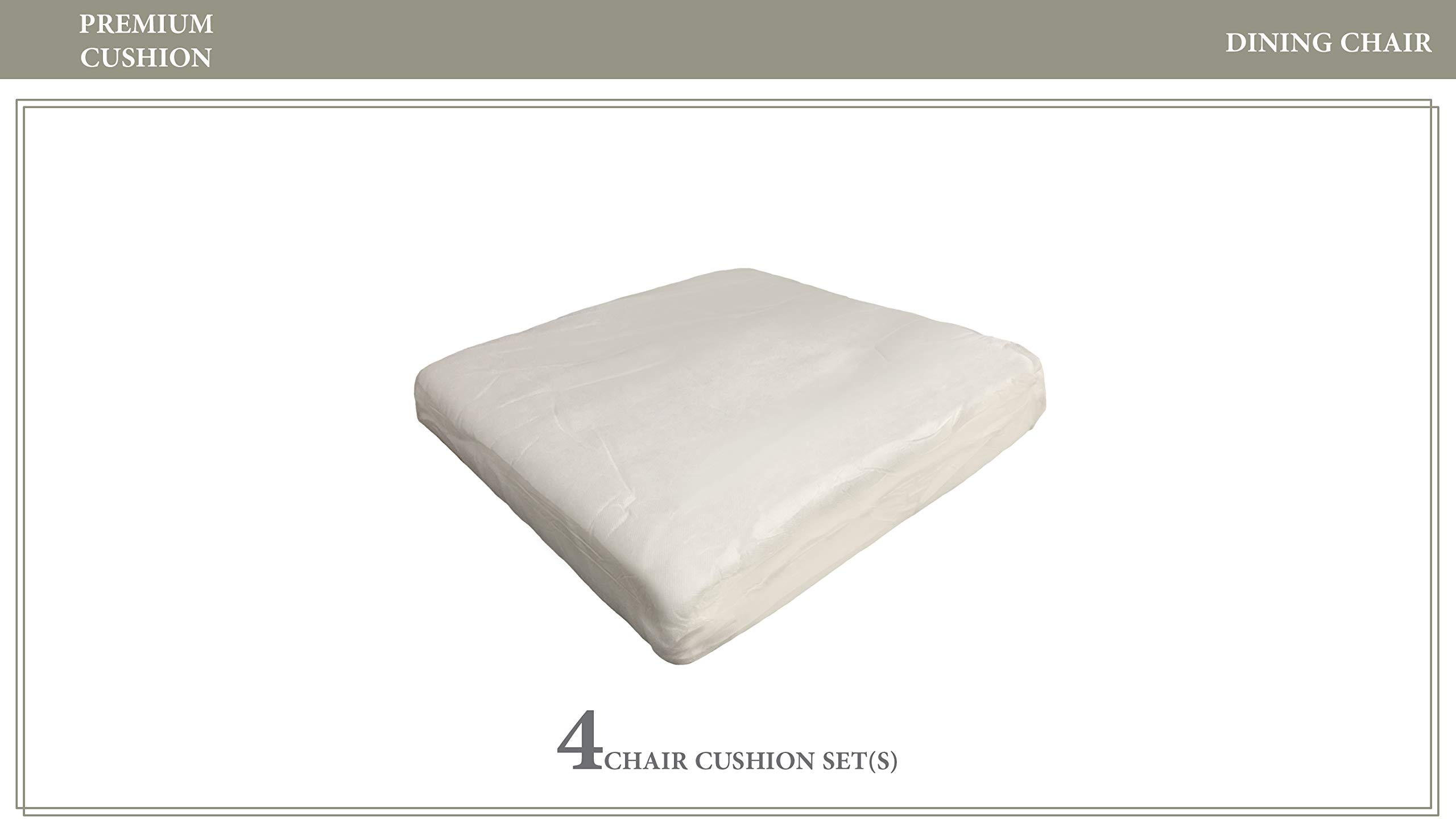 TK Classics 4 Cushions for Dining Chairs