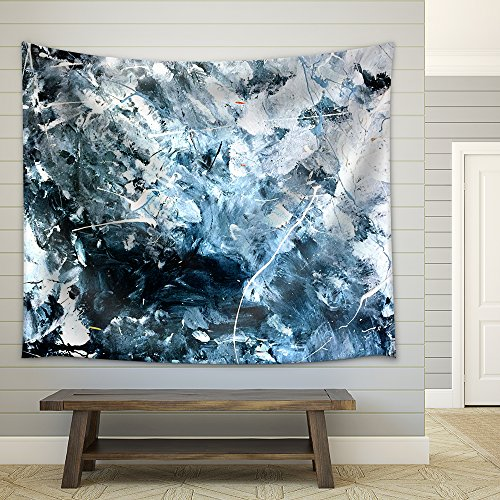 Abstract Acrylic Painted Texture Background Fabric Wall