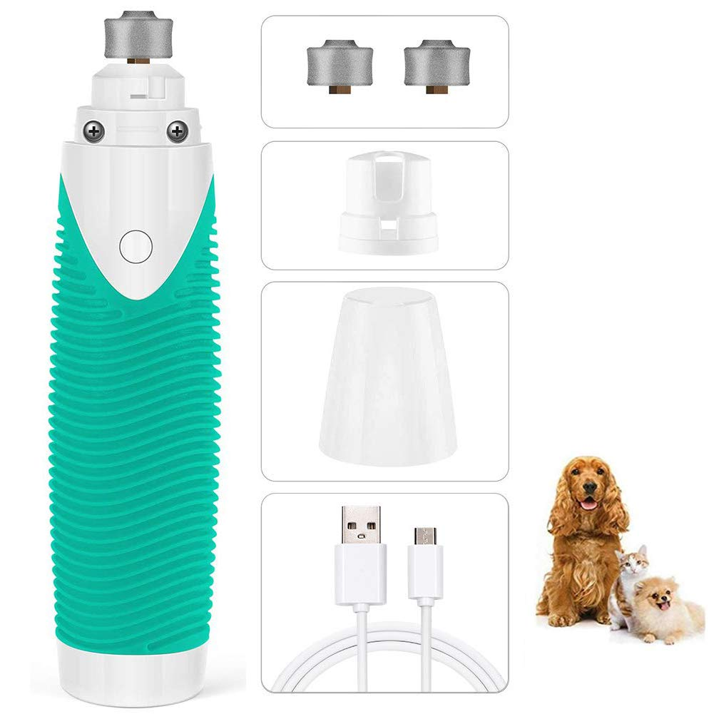 USB Rechargeable Pet Nail Grinder Quiet Auto Cat Dog Nail Paws Nail Grooming Trimmer Tools Electric Dog Cat Nail Grinder Clipper