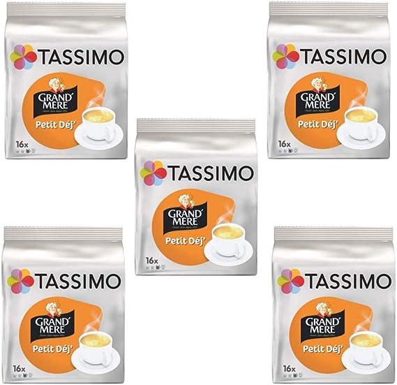TASSIMO Grand Mere Petit Dejeuner - Cápsulas de café, paquete de 5 ...