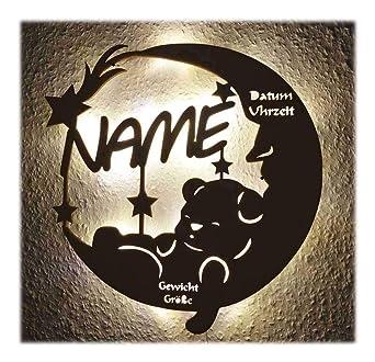 Fee Feen Geschenke individuell mit Name Lampe Nachtlicht zur Geburt oder Taufe
