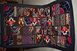 India Wall Hanging Beaded Vintage Sari Patchwork Tapestry Throw 98