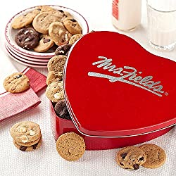 Shari's Berries - Mrs. Fields Valentine's Day Heart Tin - 1 Count - Gourmet Baked Good Gifts