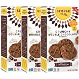 Simple Mills Naturally Gluten Free Crunchy Cookies, Double Chocolate, 3 Count, PACKAGING MAY VARY