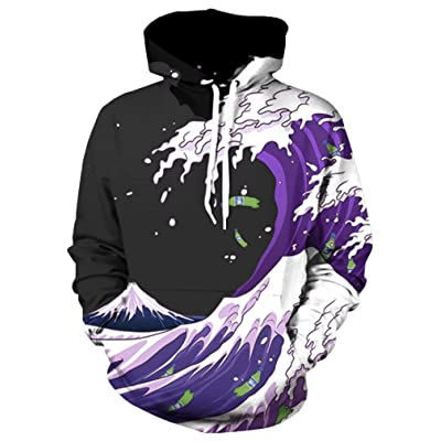 Your Love Purple Drank Wave Hoodie Sweatshirt Hip Hop Streetwear Harajuku Fashion Outerwear Hoody