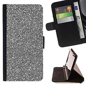 Momo Phone Case / Flip Funda de Cuero Case Cover - Plata Espumoso de Navidad Navidad - Samsung Galaxy S6 Edge Plus / S6 Edge+ G928