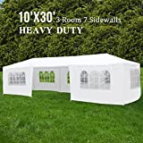 #7: ORKAN 10'x30' Canopy Party Wedding Tent Outdoor Gazebo Heavy Duty 7 Sidewalls