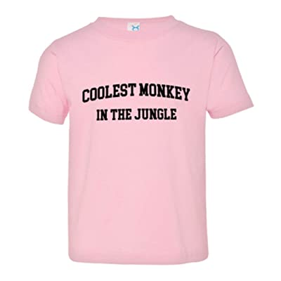 PleaseMeTees Toddler Classic Coolest Monkey In The Jungle Funny HQ Tee Shirt