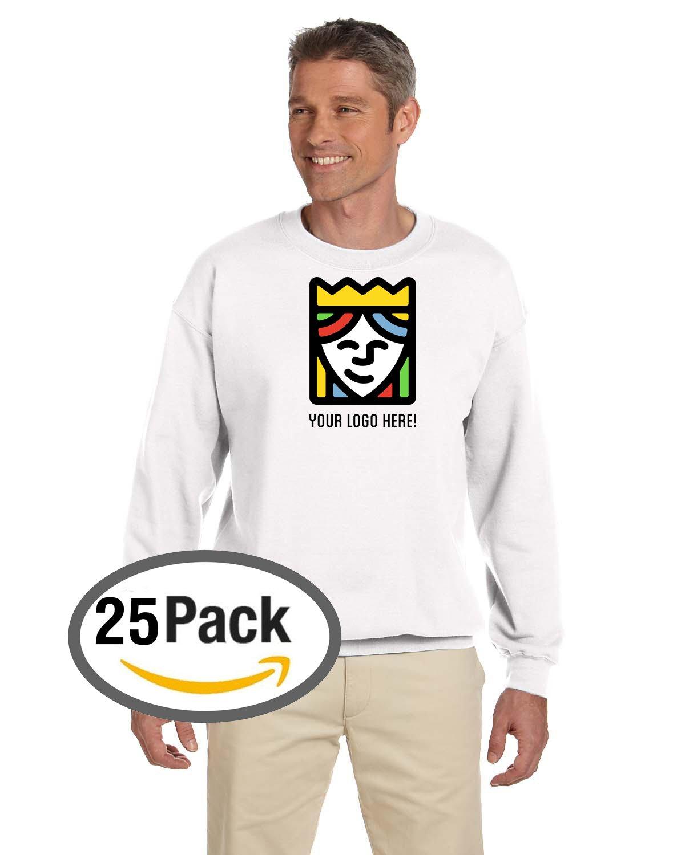 Custom Printed Gildan Heavy Blend Crewneck Sweatshirt – Pack Of 25