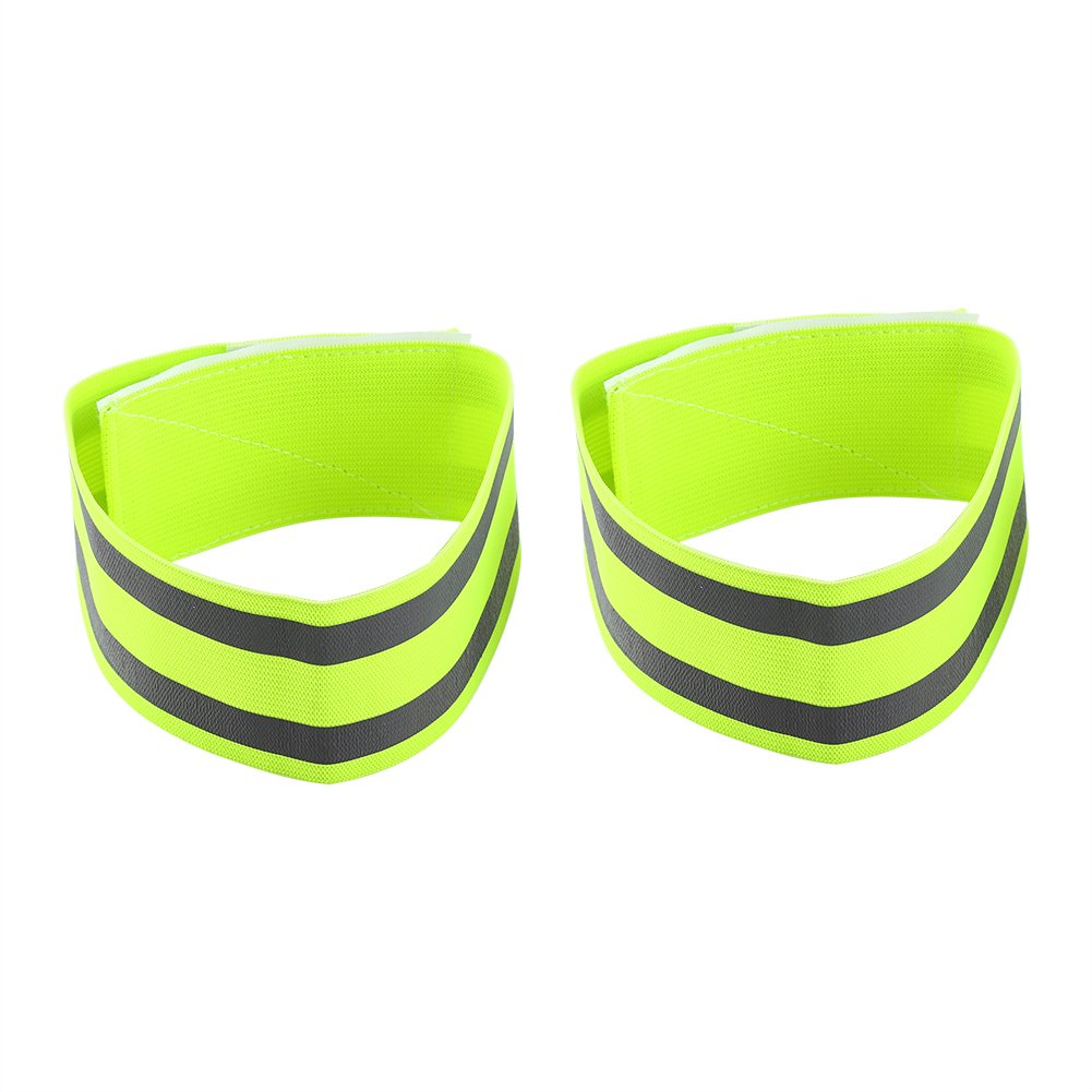 Reflective Wristbands, High Visibility Arm Bands for Night Cycling Running Jogging