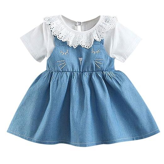 815a8e581087f Amazon.com: Girls Casual Dress Fartido Short Sleeve Dresses ...