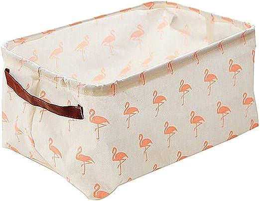 znvmi plegable Flamingo – Cesta infantil bebé Juguete Caja algodón ...