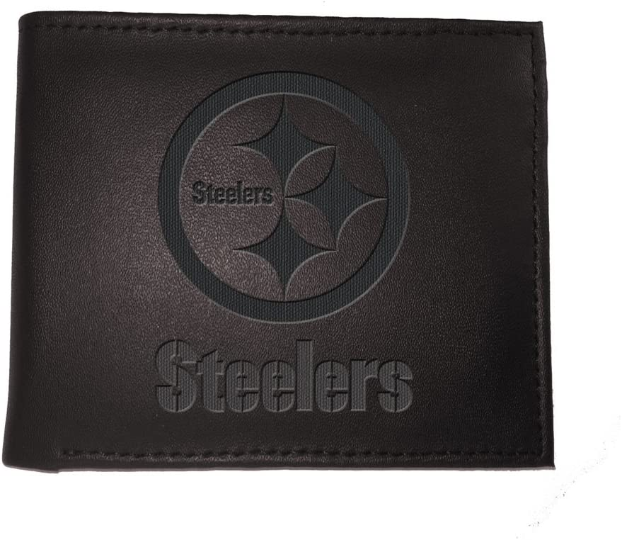Team Sports America Leather Pittsburgh Steelers Bi-fold Wallet