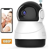 Camaras de seguridad wifi HD 1080P camara de vigilancia inalambrica Interior 360 Grados camara ip wifi monitor de bebe Pan/Tilt/Zoom , visión nocturna por infrarrojos, audio bidireccional, detección de movimiento