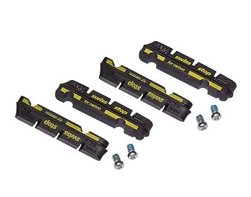 4 Zapatas Freno Carretera Swissstop Flash Pro Compatible Shimano/Sram Carbono Negro: Amazon.es: Deportes y aire libre