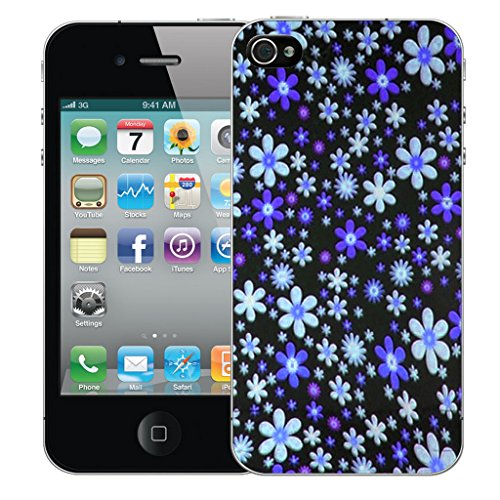 Mobile Case Mate iPhone 5 Silicone Coque couverture case cover Pare-chocs + STYLET - Blue Spray pattern (SILICON)