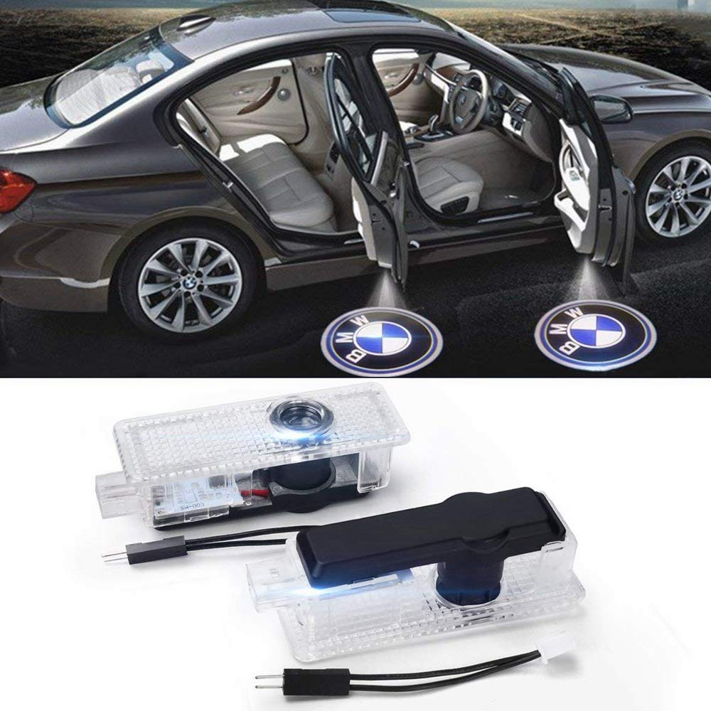 2 Pcs Car Door LED Light Logo HD Projector Welcome Ghost Shadow Low Consumption Shadow Lights for BMW Series